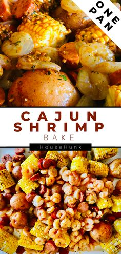 Time to bring the flavors of The Bayou to your dinner table. This Sheet Pan Cajun Shrimp recipe is simple to make, fun to eat, and a breeze to clean up. Cajun Shrimp Recipes, Baked Shrimp, Seafood Recipes, Lunch Recipes, Easy Recipes, Dinner Recipes, Delicious Recipes, Dinner Ideas, Cooking Recipes