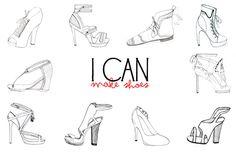 Pix For > Fashion Design Sketches Shoes