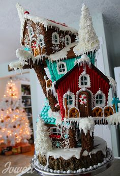 Gingerbread House Condo Chalet Bird Tree House