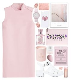 """""""La Rose Mur"""" by ladyvalkyrie ❤ liked on Polyvore featuring RED Valentino, Nly Shoes, Kenzo, Love 21, CB2, Herbivore, Topshop, Juicy Couture, Bare Escentuals and Pré de Provence"""