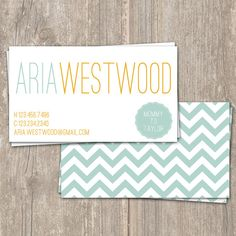cute simple business cards- but without the chevron