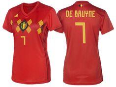 4930fe089 2018 Belgium World Cup Football Shirt Home kevin de bruyne Soccer Jersey  Women Fifa Football