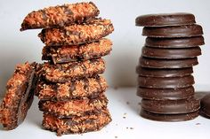 samoas AND thin mints?! my heart melts & all self control goes out the window...you know you do the same