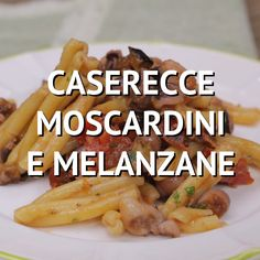 Casarecce moscardini e melanzane fried fish recipes Fried Fish Recipes, Seafood Recipes, Pasta Recipes, Cooking Recipes, Chicken Recipes, Cooking Pasta, Italian Dishes, Italian Recipes, Healthy Dinner Recipes
