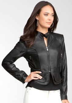 Bebe Zipper Moto Jacket