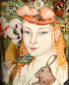 Primavera Vase ~ Irina S Zaytceva (detail)