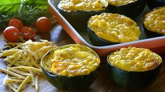 Cheesy corn stuffed gemsquash