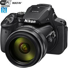 The Nikon COOLPIX is a compact digital camera that features an Optical Zoom lens, low-light 16 MP CMOS sensor, built-in Wi-Fi, Full HD video shooting, special effects and more. Nikon D7200, Nikon Coolpix, Canon Powershot, P900, Wi Fi, New Nikon, Carte Sd, Camera Deals, Dslr Photography Tips
