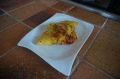 "Omelette with tomatoes, onion and sweet italian ""peperoncini"""