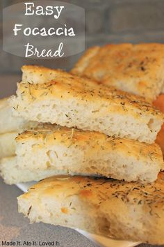 easy focaccia flat bread