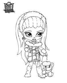 Baby Abbey printable coloring sheet from JadeDragonne at Deviant Art