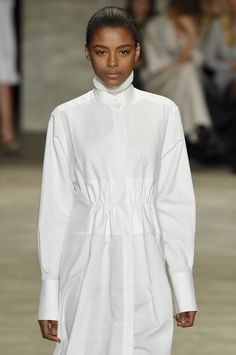 More long #white #shirting spotted at #NYFW #MBFW #AW15 from #designer @TOMENYC