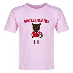 Switzerland Animal Mascot Toddler T-Shirt (Pink)