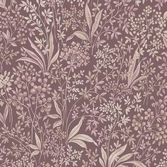 A classic pattern from our archives, Nocturne features a tight floral pattern, hand-painted and presented in both light and dark shades. Timeless charm with a contemporary twist, perfectly complimenting the modern, trend-conscious home. Floral wallpaper a Wallpaper Samples, New Wallpaper, Swedish Wallpaper, Cottage Wallpaper, Shades Of Burgundy, Design Repeats, Lush Garden, Muted Colors, Modern