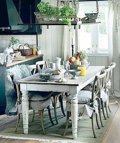 Painted Furniture Ideas Tables | ... Furniture for Kitchens, 20 Comfortable Modern Kitchen Design Ideas