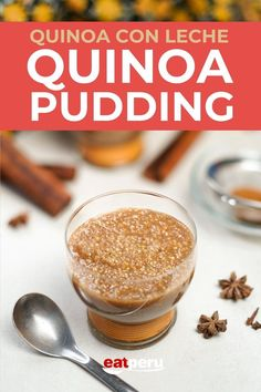 A creamy, sweet, and lightly spiced quinoa pudding from Peru. Made with quinoa instead of rice, making it a gluten-free alternative. Includes non-dairy alternatives. #quinoapudding #peruviandesserts #quinoadessert #quinoarecipe Quinoa Desserts, Pudding Desserts, Gluten Free Desserts, Easy Desserts, Peruvian Desserts, Peruvian Recipes, Quinoa Pudding, Cinnamon Powder, Cinnamon Sticks