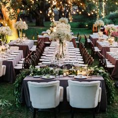 This reception is beyond gorgeous. LOVE the dark linens with dark chairs! So romantic and cozy