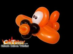 Dusty Crophopper Plane Balloon | ChiTwist Chicago Balloon Twisting - YouTube