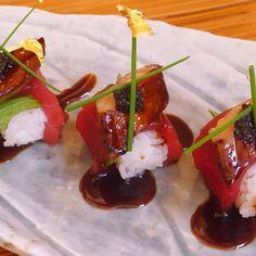 Tuna, foie gras, caviar & gold leaf.