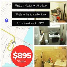CREDIT MUST BE 670 Union City $895 Studio Heat & hot water No Broker Fee     #renovated #njrealestate #njrealtor #rentsnj #instagramnyc #waterway #nofee #newyork #nycrealtor #nycnightlife #nyceats #nyclife #nj  #cheapapartments  #apartment #rent #rental #hoboken #hobokennj #cheap #njrents #washingtonheights #wahi #harlem #njrents #blvdeast #northbergen    #unioncity #renovated #njrealestate #njrealtor #rentsnj #instagramnyc #waterway #nofee #newyork #nycrealtor #nycnightlife #nyceats…