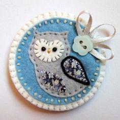 felt owl broach  #craft #owl #felt by cristina