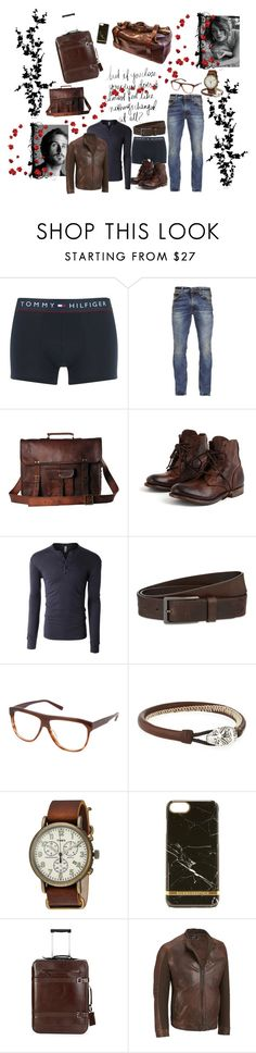"""""""Nathan #1"""" by boondock-saint1999 ❤ liked on Polyvore featuring Tommy Hilfiger, Nudie Jeans Co., LE3NO, HUGO, Cynthia Rowley, Marco Ta Moko, Timex, Richmond & Finch, Brunello Cucinelli and men's fashion"""