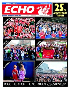 Liverpool Echo front page April 16 2014