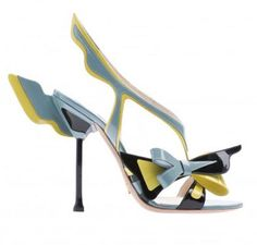 Prada Winged Rocket slingback Strappy Heels! SS12 AMAZING! follow me on twitter for more shoe related stuff! www.twitter.com/louiseshoescouk
