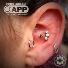 23rdstreetbodypiercing:  So fresh, and soooo clean! Fresh Conch project by #APP Member Kyle Petersen today with stunning jewelry by @anatometal !!! You know you love it! Come on in and plan your project with Oklahoma's only @safepiercing members, the entire staff 23rd Street!!!