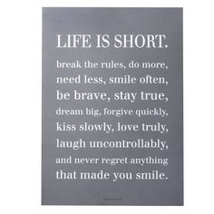 Señal Bloomingville Life is short ..
