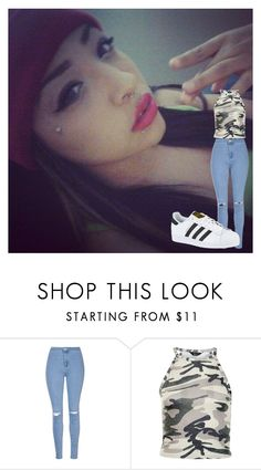 """""""ootd"""" by janesia-rodriguez ❤ liked on Polyvore featuring Glamorous, New Look and adidas"""