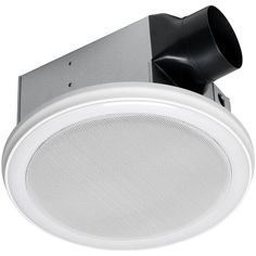 Home Netwerks Decorative White 90 CFM Bluetooth Stereo Speaker Bath Fan with LED Light-7130-02-BT - The Home Depot