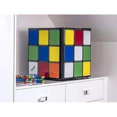 Mini Table Top Fridge Portable Bedroom Rubiks Cube Counter Small Drinks Cooler
