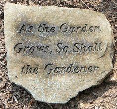 sign Garden grows...