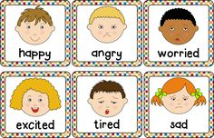 Emotions cards (Helps to understand and describe different emotions.)