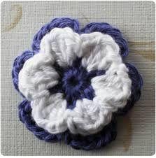 Billedresultat for hæklede blomster opskrift