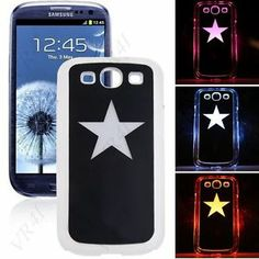 Stylish Glow in the Dark Flash Case Cover For Samsung Galaxy S3 i9300 Smartphone