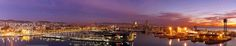 barcelona pano pe - Pinned by Mak Khalaf panoramic view  sun rise at barcelona City and Architecture barcelonapanoramicspainthe city view by HushamGazaly
