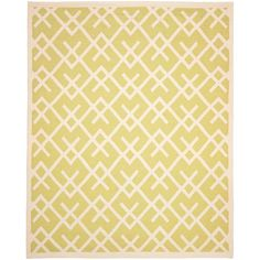 Dhurries Light Green/Ivory 8 ft. x 10 ft. Area Rug