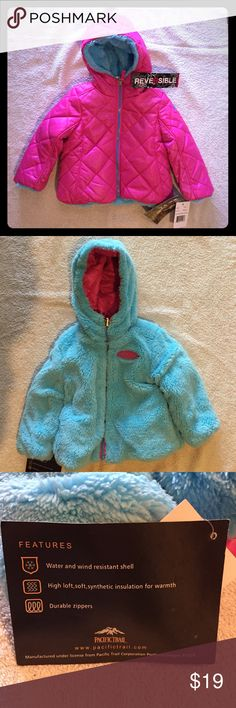 Pacific Trail reversible hooded coat New Pacific Trail reversible hooded jacket/coat. Water and wind resistant shell. High loft, soft, synthetic insulation for warmth. Pacific Trail Jackets & Coats Puffers