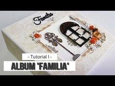 "MINI ALBUM ""FAMILIA"" PARA PRINCIPIANTES - TUTORIAL (PARTE 1 - ESTRUCTURA... Nova, Mini Books, Mini Albums, Scrapbook, Vintage, Mix Media, Wedding, Baby, Mini Scrapbook Albums"