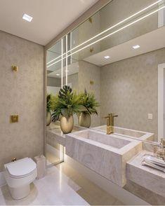 """Um lavabo """" Chic"""" clean e atemporal, um luxo só, piremmm meniinass🥰🌟 Projeto assinado por Carla Bertuol✨ 📸 Curta… Bathroom Interior Design, Home Decor, Bathroom Design Small, Modern Kitchen Interiors, Home Interior Design, Bathroom Design Luxury, Luxury Bathroom, Bathroom Decor, Beautiful Bathrooms"""