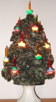 christmas trees with bubble lights - Google Search
