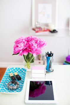 On The Blog-My Office Space  www.style-n-naina.com