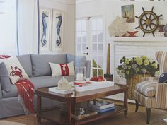 Coastal Inspiration from Williams Sonoma home catalog.