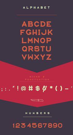 Aventura Font Letters
