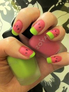 watermelon nails so cool