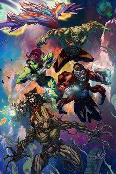 Guardians of the Galaxy by emmshin.deviantart.com on @DeviantArt - More at https://pinterest.com/supergirlsart/