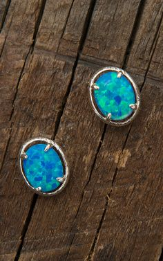 Montana Silversmiths Oval Opal Solitaire Earrings | Cavender's