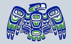 Happy Blue Friday to all you beautiful Indigenous, Coastal, Tribal people! (Art by Alan Pace, Yakima, WA))
